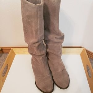 Naughty Monkey Taupe suede leather boots size 6